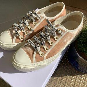 Dior Shoes   Dior Pink Velvet Low Top